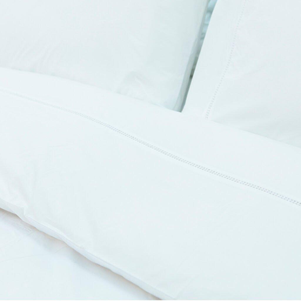 Cotton Percale Lace Trim Duvet Cover snow white 2