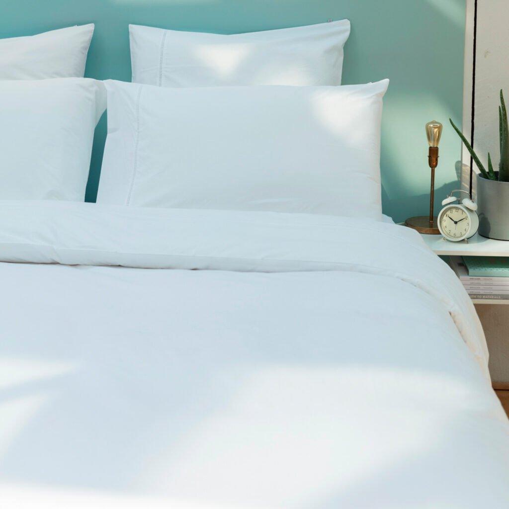 Cotton Percale Lace Trim Duvet Cover snow white 4