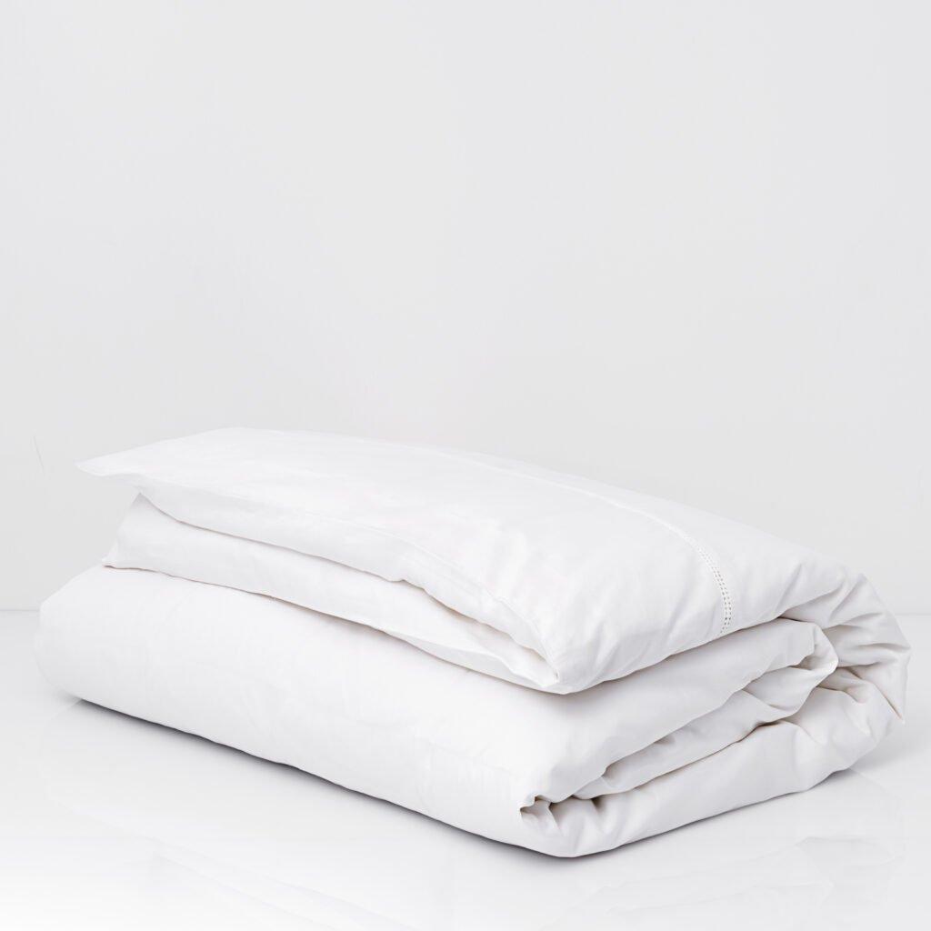 Cotton Percale Lace Trim Duvet Cover snow white 6