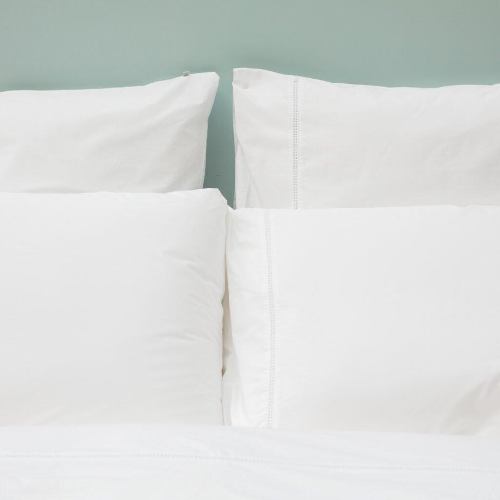 Cotton Percale Lace Trim Pillowcase snow white 5
