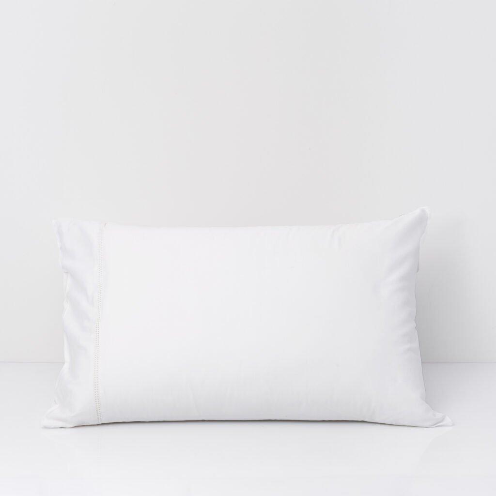 Cotton Percale Lace Trim Pillowcase snow white 7