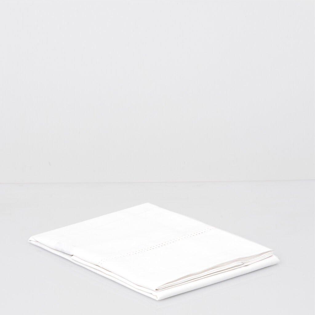Cotton Percale Lace Trim Pillowcase snow white 8
