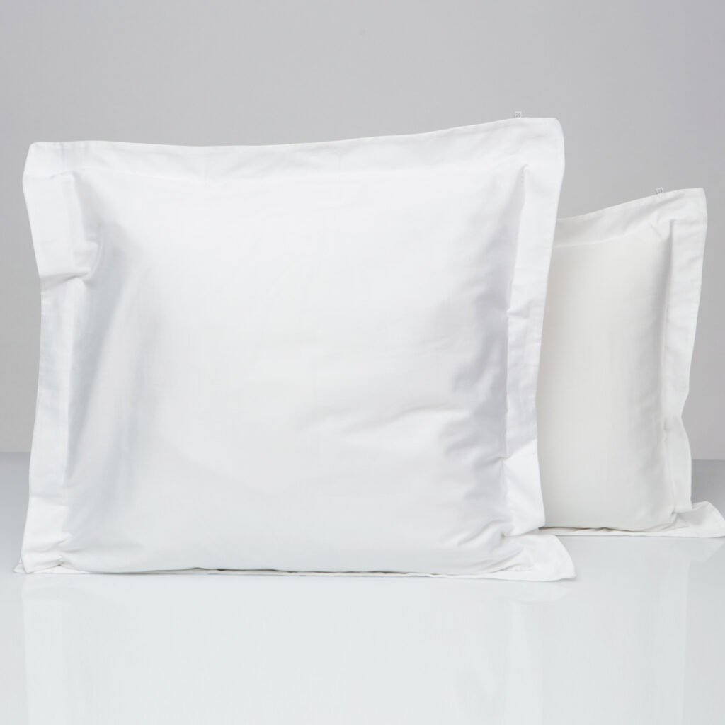 Cotton percale oxford edge pillowcase snow white 4