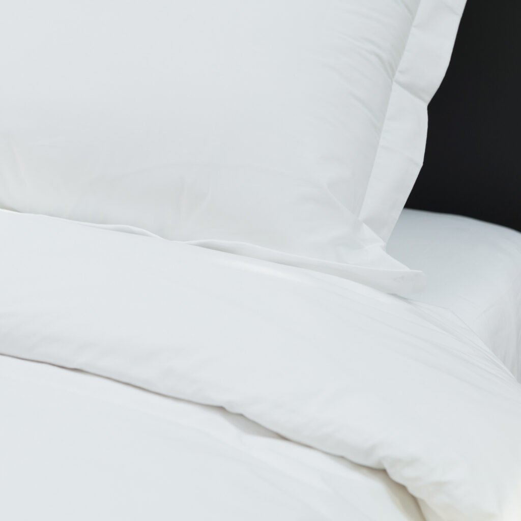 Cotton percale oxford edge pillowcase snw white 3