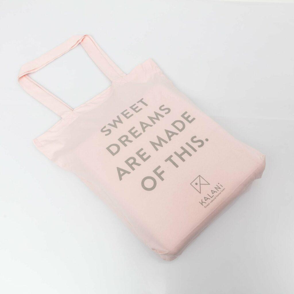 Cotton premium jersey bag soft pink