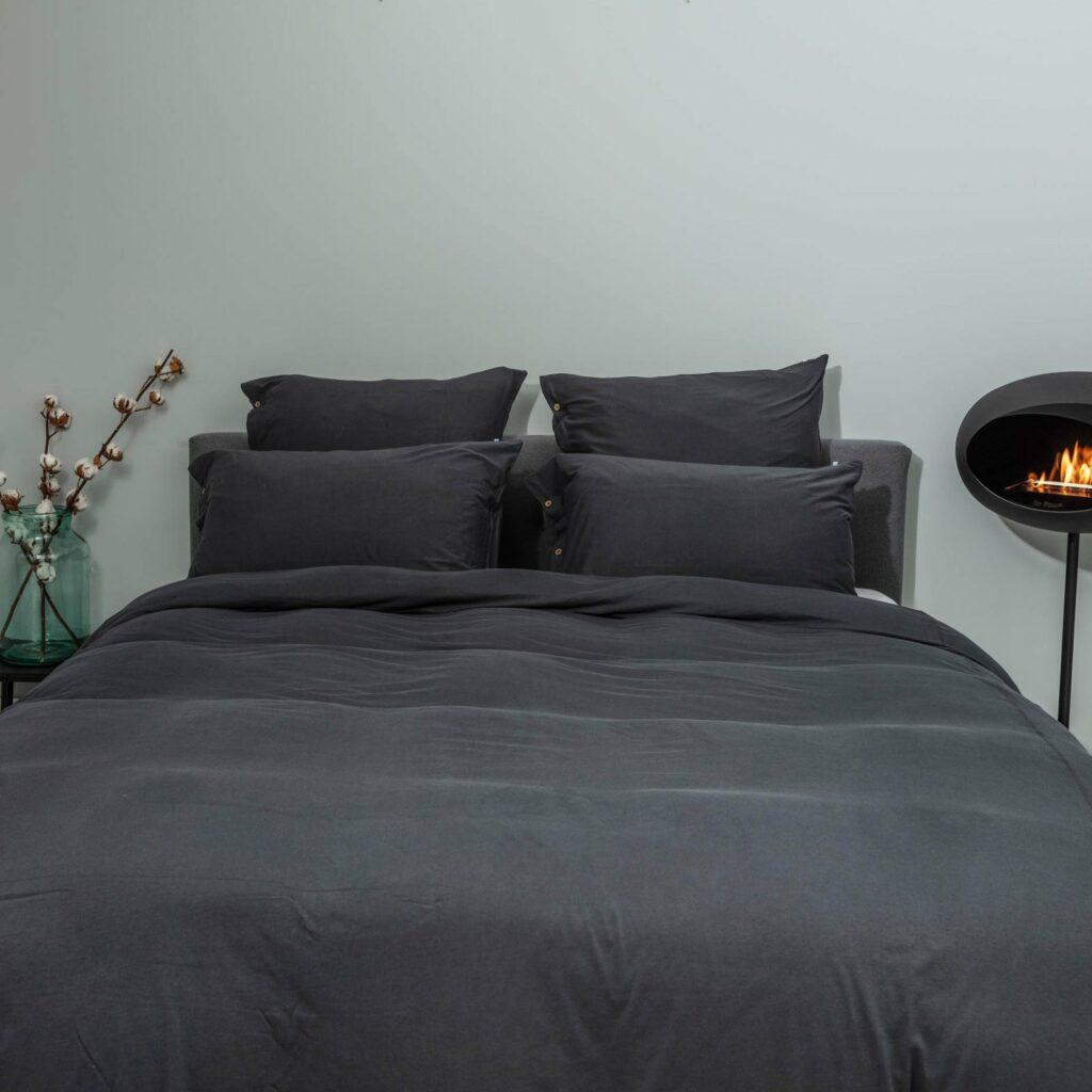 Cotton premium jersey bedroom lava grey 1