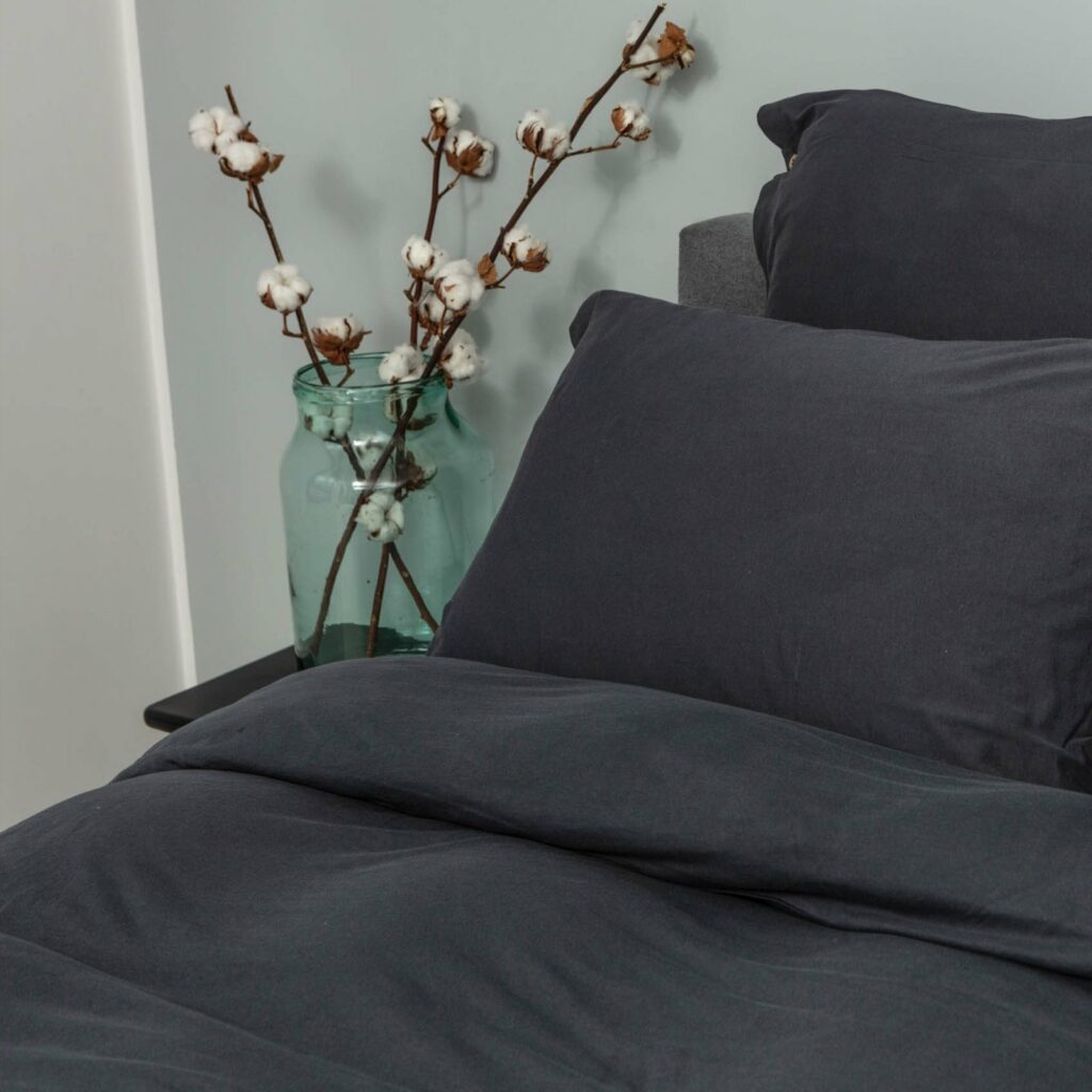 Cotton premium jersey bedroom lava grey 2