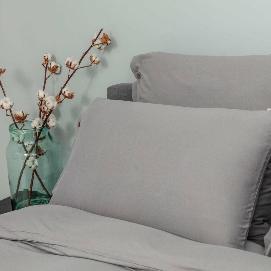 Cotton premium jersey bedroom stone grey 1