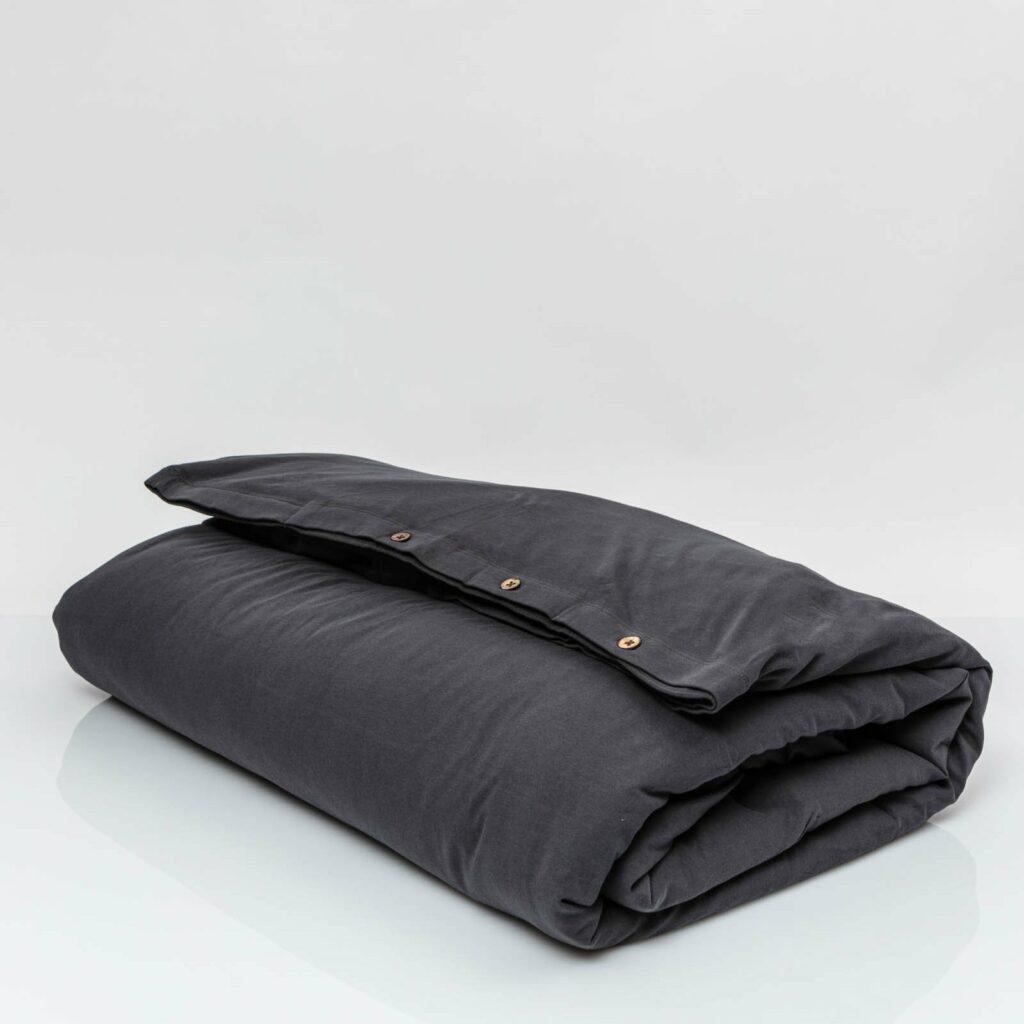 Cotton premium jersey duvet cover lava grey 1