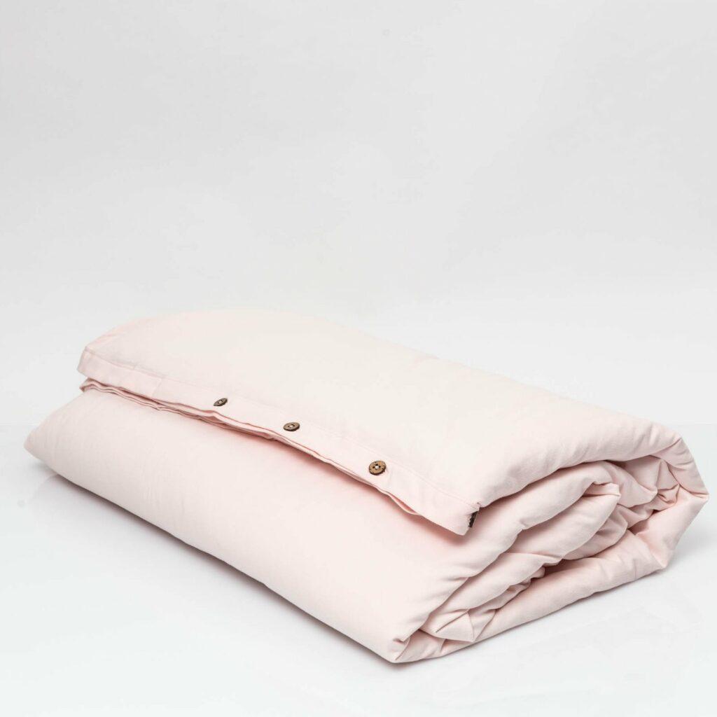 Cotton premium jersey duvet cover soft pink 1