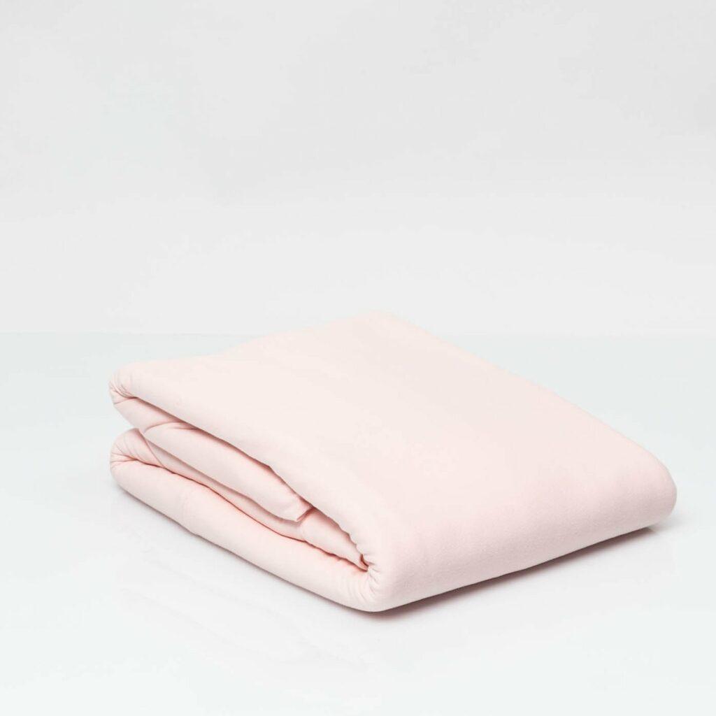 Cotton premium jersey duvet cover soft pink 2