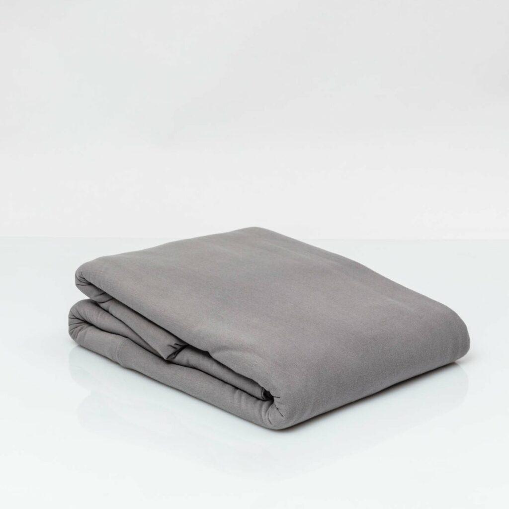 Cotton premium jersey duvet cover stone grey 2