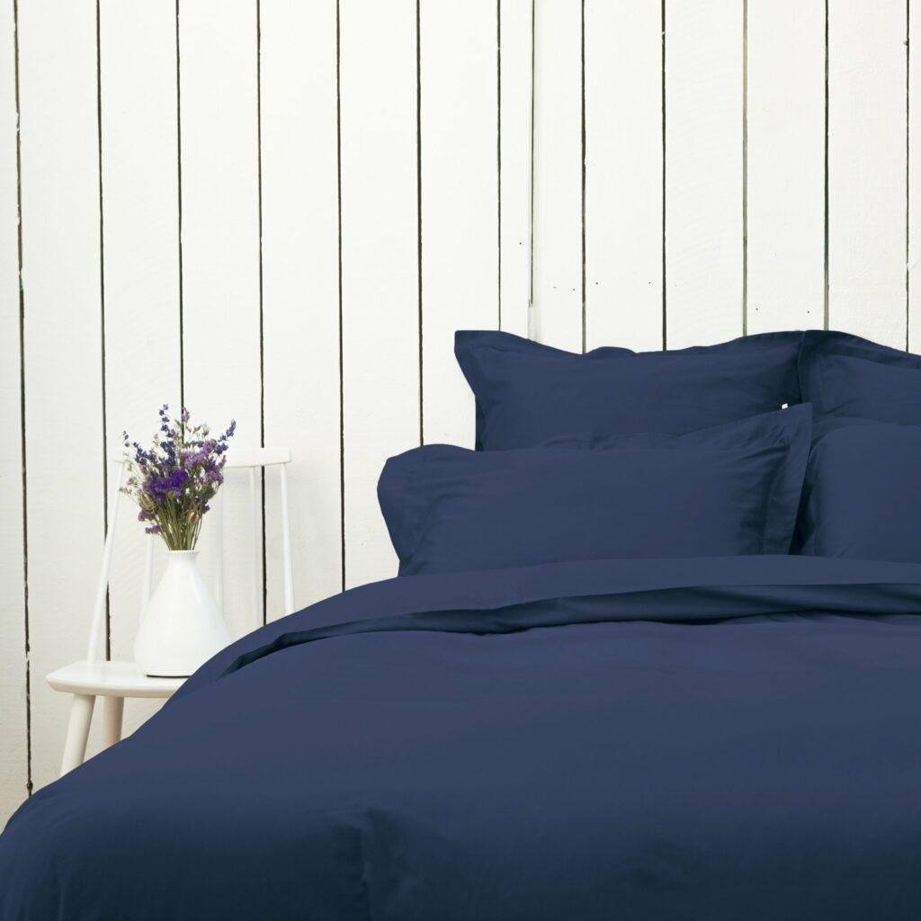Cotton sateen bedroom midnight blue 2
