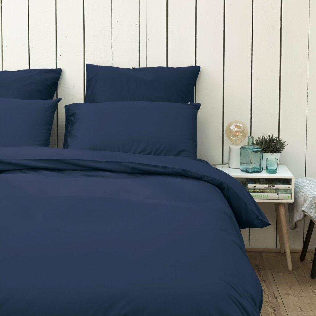 Cotton sateen bedroom midnight blue 4
