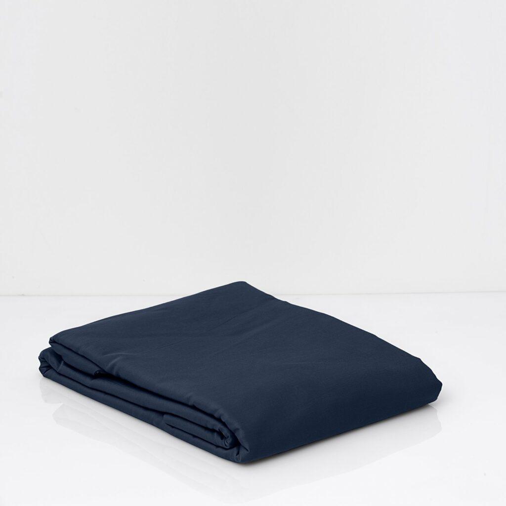 Cotton sateen duvet cover midnight blue 2