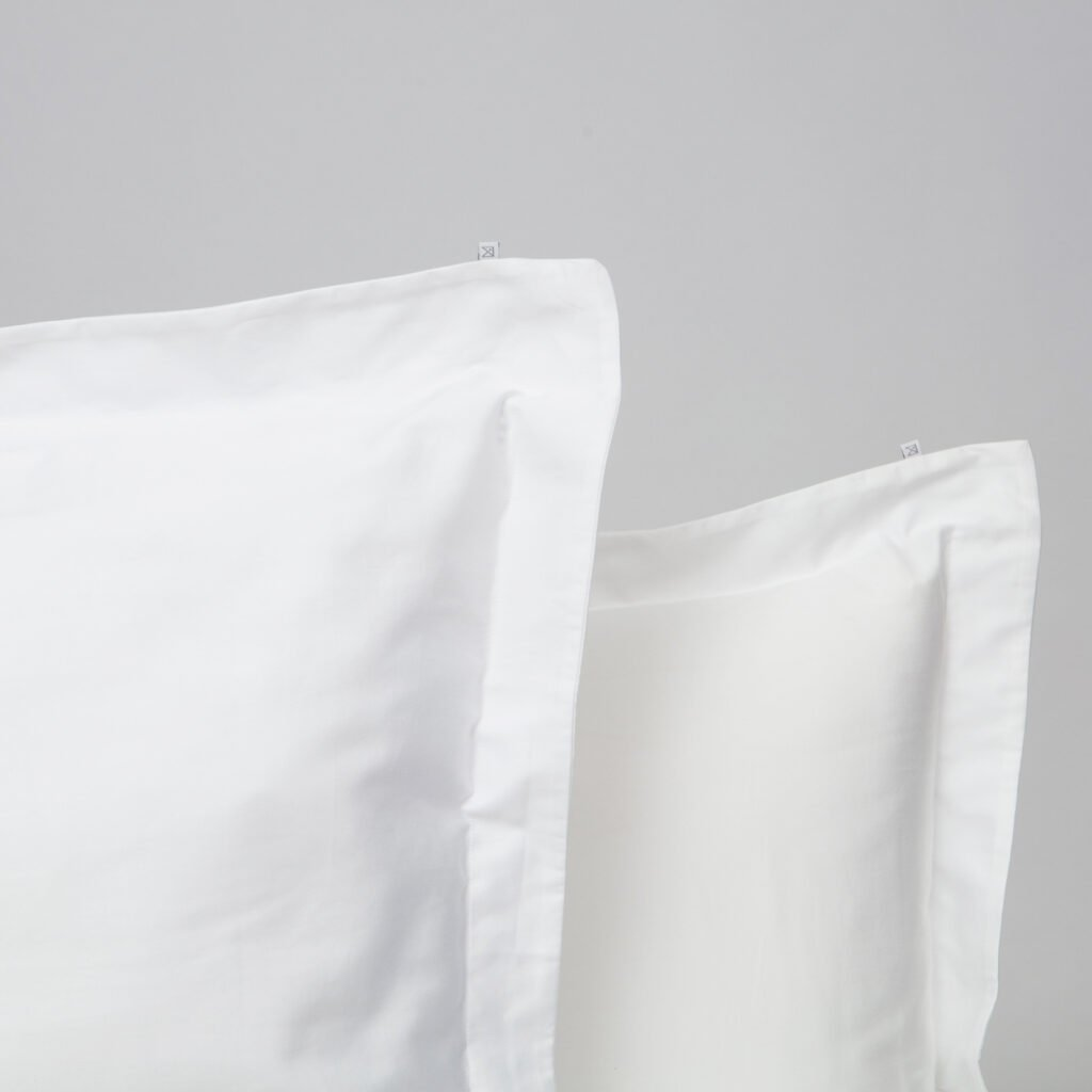 Cotton sateen oxford edge pillowcase snow white 2