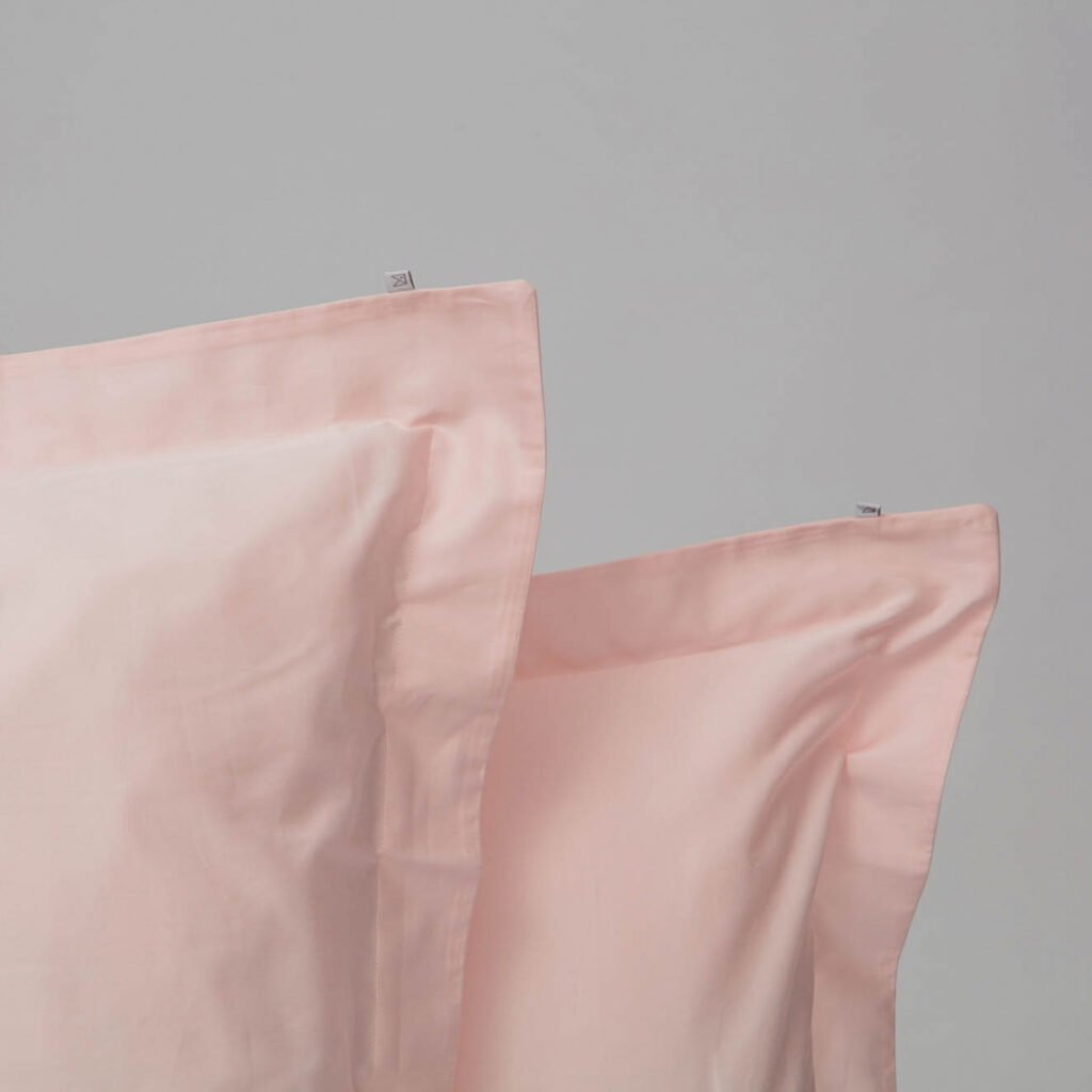 Cotton sateen oxford edge pillowcase soft pink 2