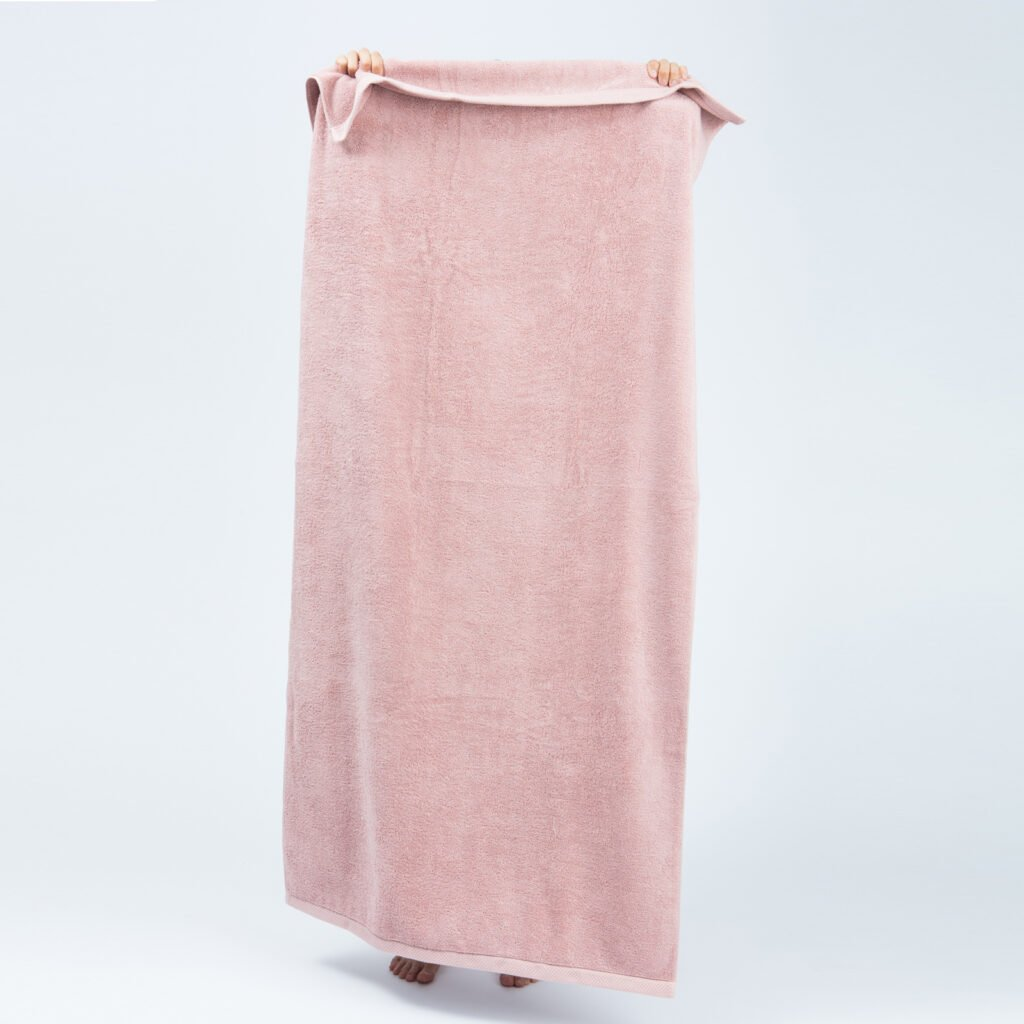 Luxury bath sheets old pink 4
