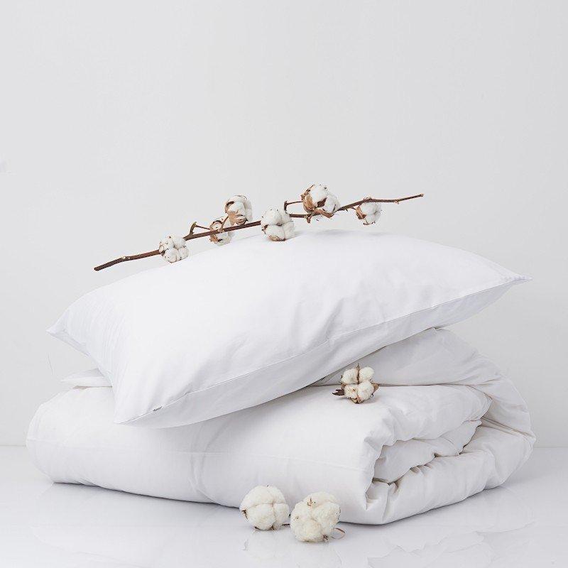 Cotton Percale Duvet Cover Snow White 3