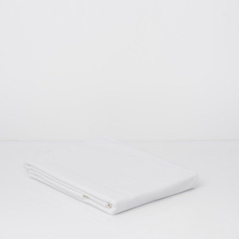 Cotton Percale Duvet Cover Snow White 5