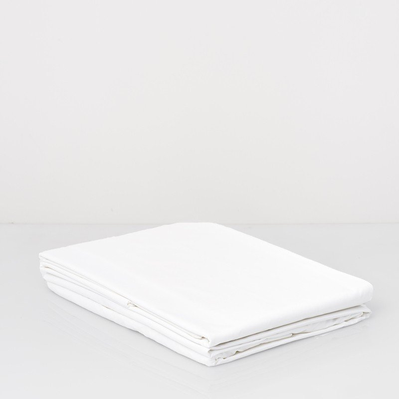 Cotton Percale Fitted Sheet Snow White 2
