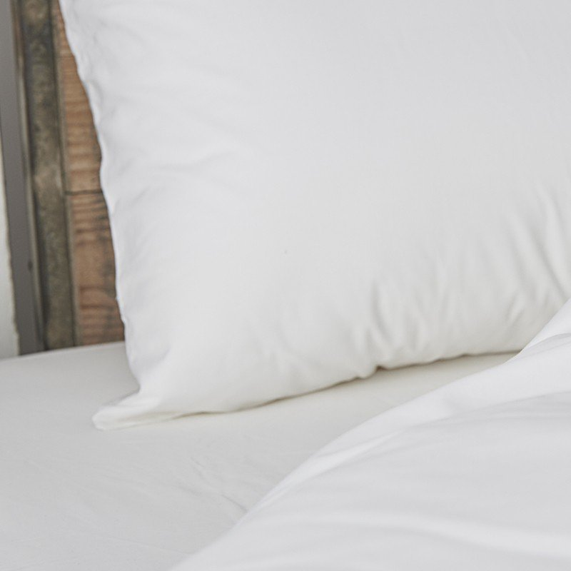 Cotton Percale Fitted Sheet Snow White 3