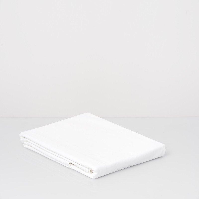 Cotton Percale Flat Sheet Snow White 1