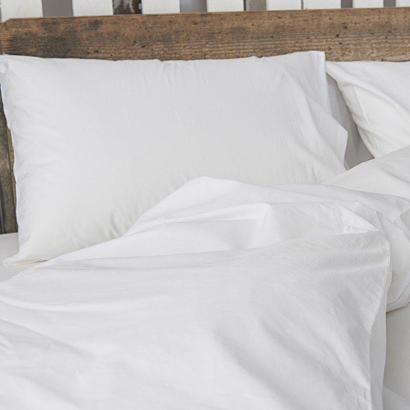 Cotton Percale Flat Sheet Snow White 2