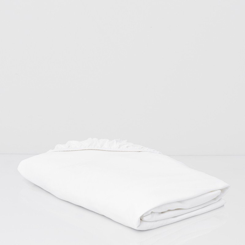 Cotton Premium Jersey Fitted Sheet Snow White 1