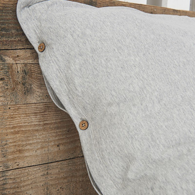 Cotton Premium Jersey Pillowcase Light Grey Melange 1