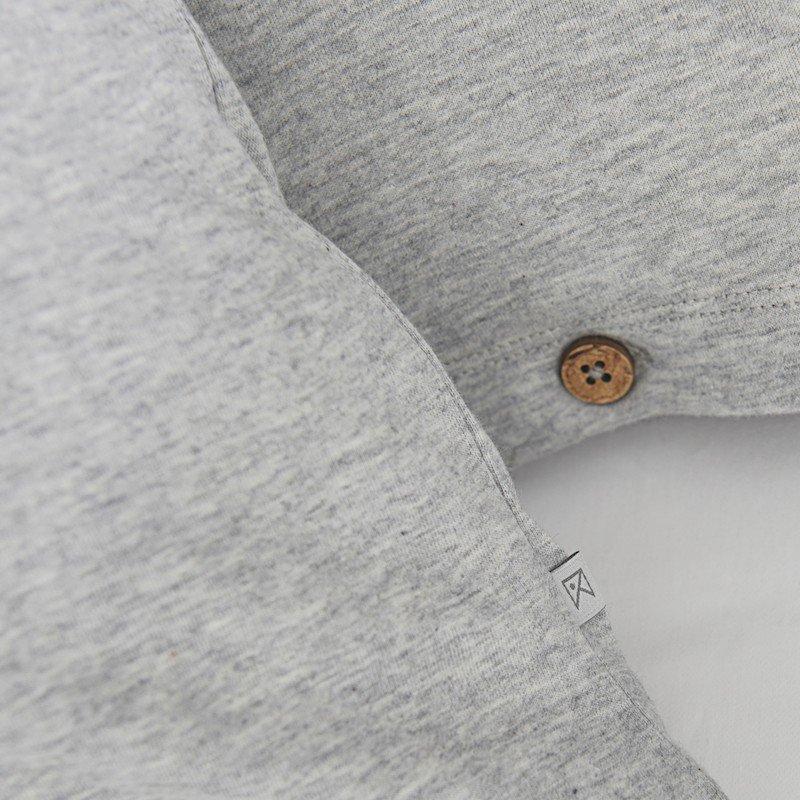 Cotton Premium Jersey Pillowcase Light Grey Melange 2