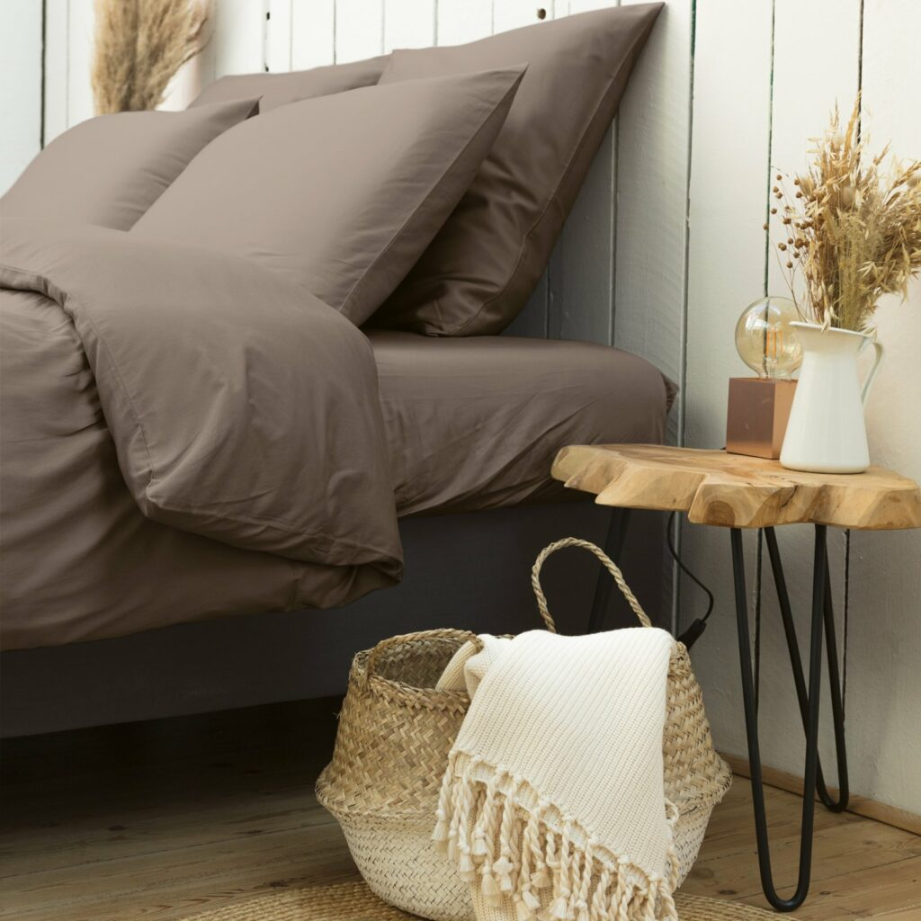 cotton sateen bedroom taupe 4