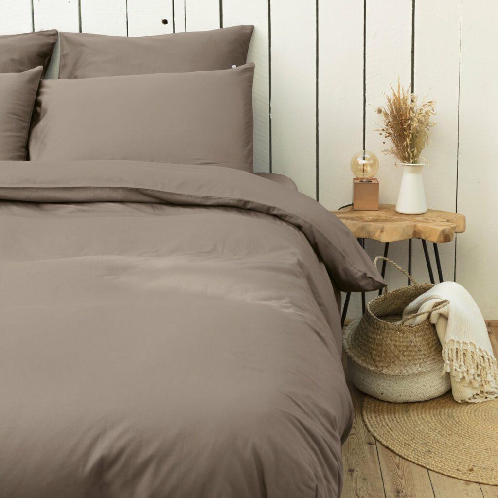 cotton sateen bedroom taupe 5