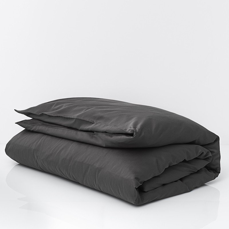 Cotton Sateen Duvet Cover Anthracite 3