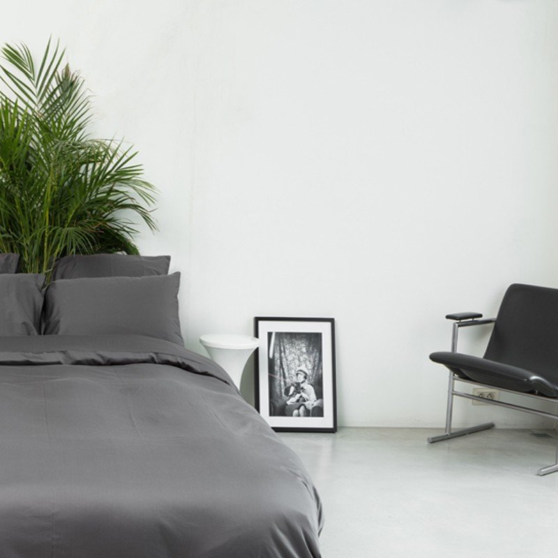 Cotton Sateen Duvet Cover Anthracite 7