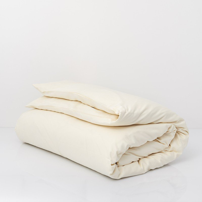 Cotton Sateen Duvet Cover Ivory 3