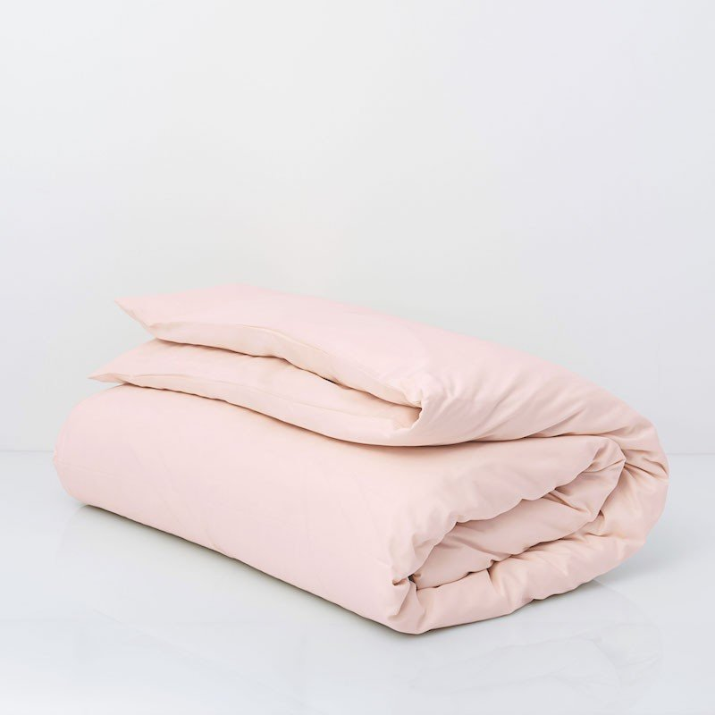 Cotton Sateen Duvet Cover Soft Pink 3