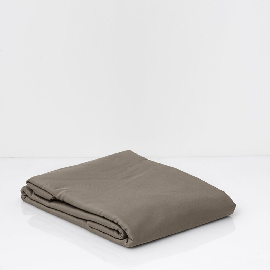 cotton sateen duvet cover taupe 1
