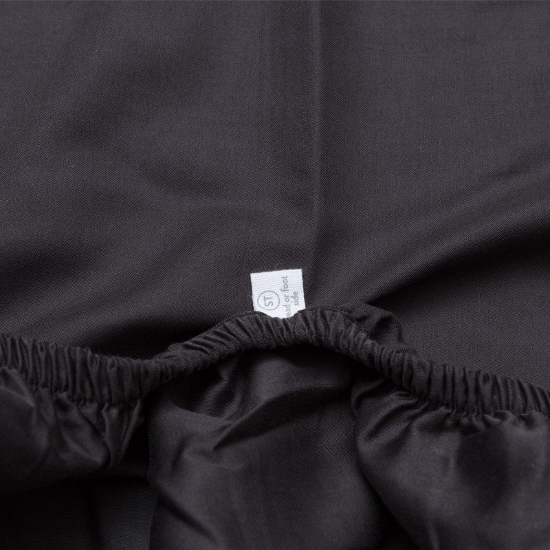 Cotton Sateen Fitted Sheet Anthracite 4
