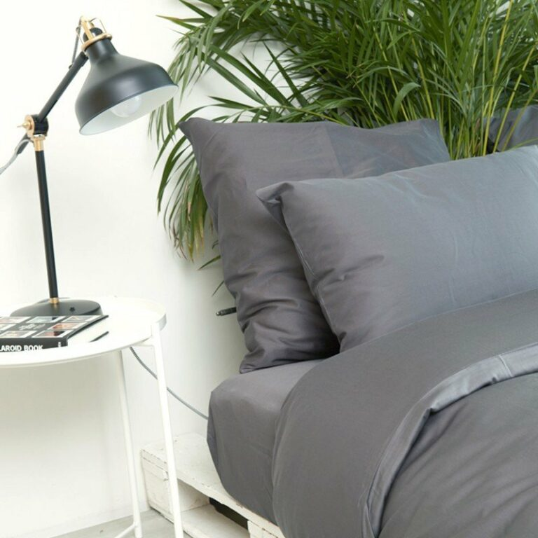 Cotton Sateen Fitted Sheet Anthracite 5