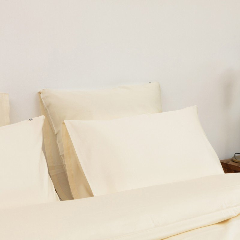 Cotton Sateen Fitted Sheet Ivory 3