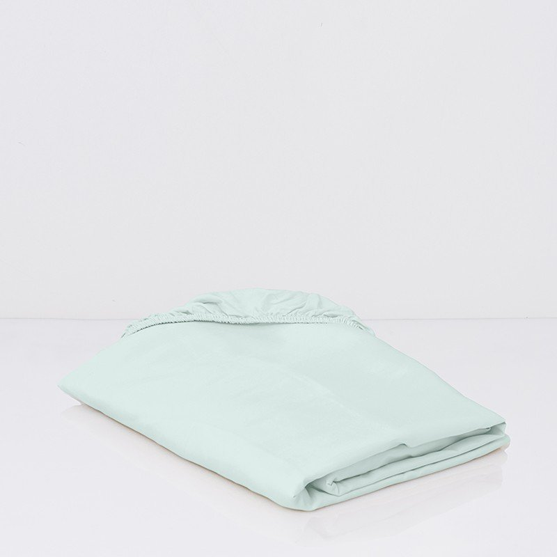 Cotton Sateen Fitted Sheet Kalani Blue 1