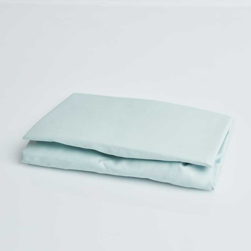 Cotton Sateen Fitted Sheet Kalani Blue 10