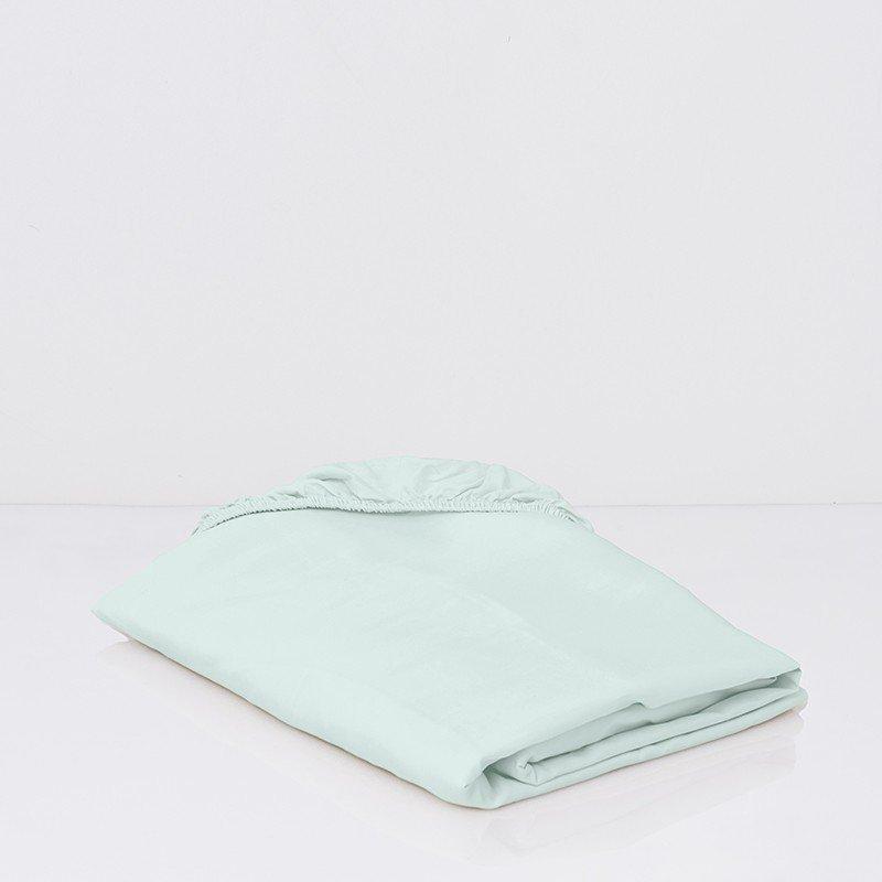 Cotton Sateen Fitted Sheet Kalani Blue 3
