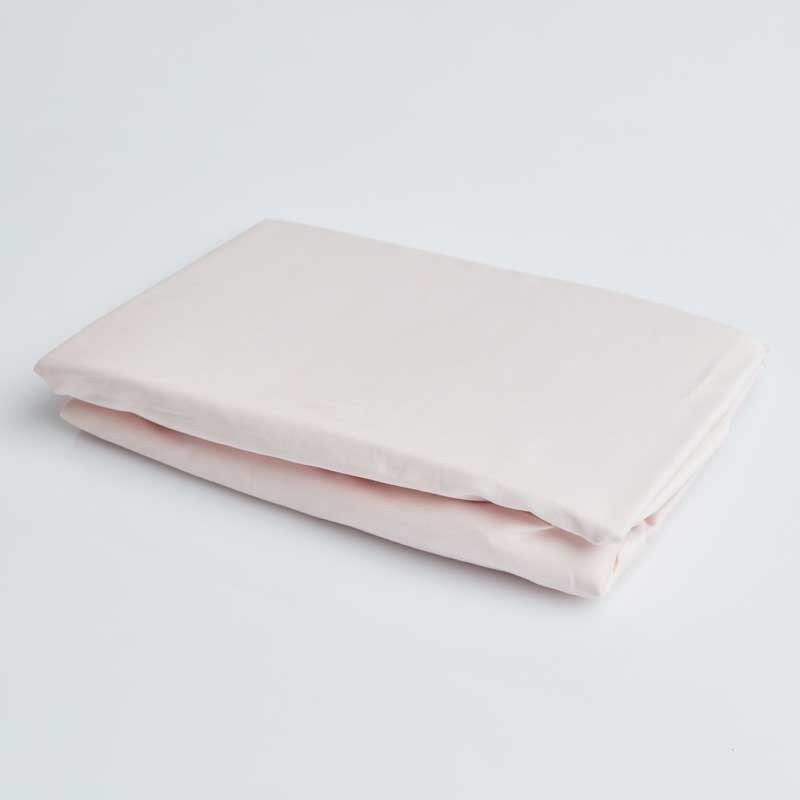 Cotton Sateen Fitted Sheet Soft Pink 8