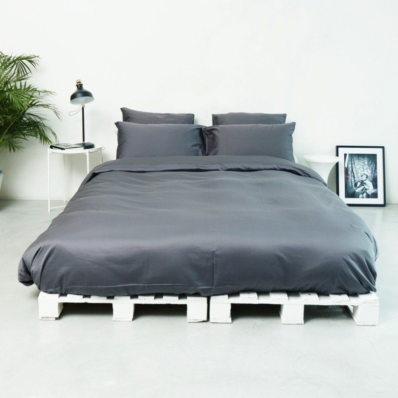 Cotton Sateen Flat Sheet Anthracite 2