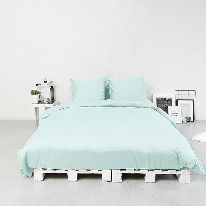 Cotton Sateen Flat Sheet Kalani Blue 2