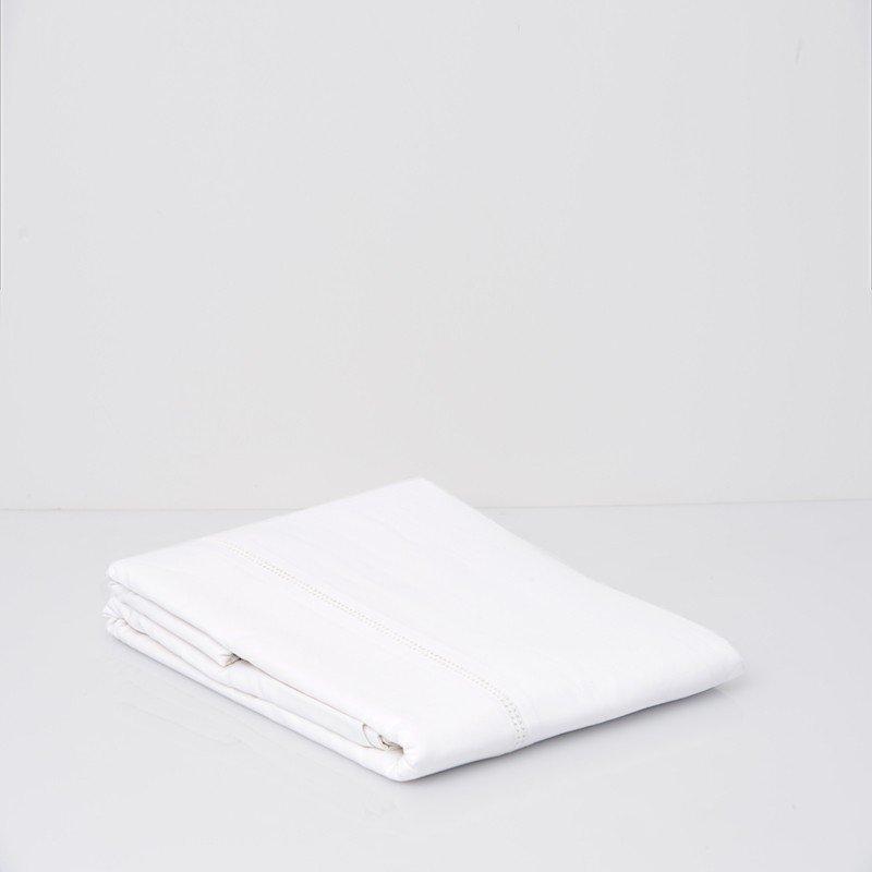 Cotton Sateen Flat Sheet Snow White 8