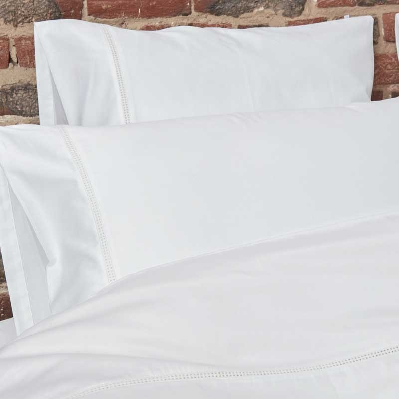 Cotton Sateen Lace Trim Duvet Cover Snow White 16