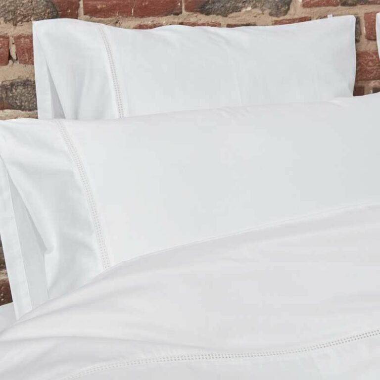 Cotton Sateen Lace Trim Pillowcase Snow White 18